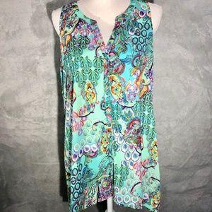 ⭐️3 FOR $50 Spense Multicolor Sleeveless Top NWOT